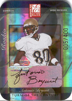 2002 Donruss Elite Turn of the Century Autographs #146 Antonio Bryant