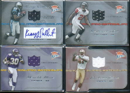 2004 Fleer Platinum Pro Material Jerseys Die Cut #PMRW3 Rashaun Woods