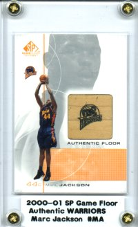 2000-01 SP Game Floor Authentic Floor #MA Marc Jackson