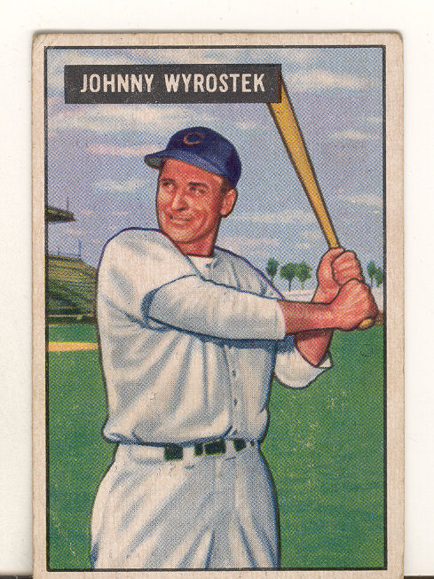 1951 Bowman #107 Johnny Wyrostek