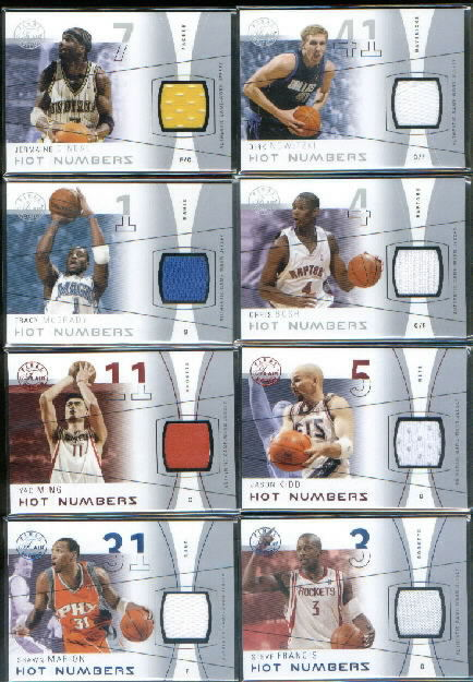 2003-04 Flair Final Edition Hot Numbers Jerseys 125 #CB Chris Bosh