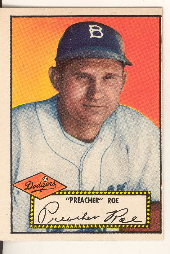 1952 Topps #66 Preacher Roe