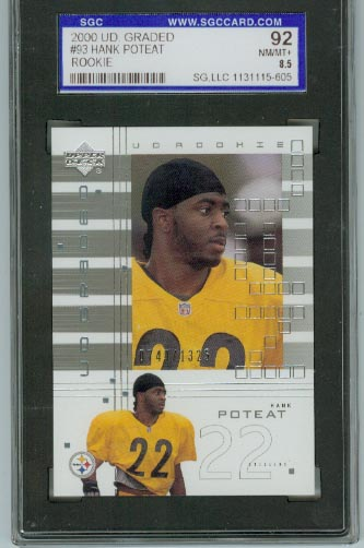 2000 UD Graded #93 Hank Poteat RC SGC Graded NM/MT+ 8.5  #d 0749/1325