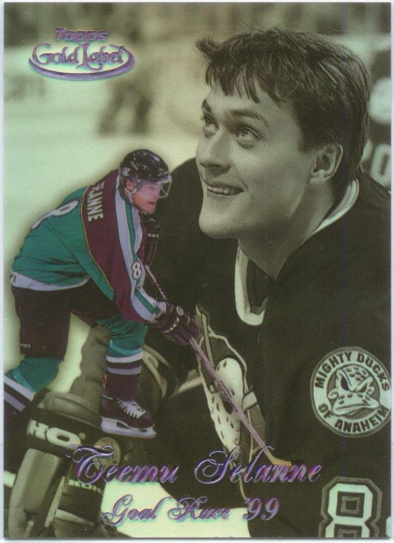 1998-99 Topps Gold Label Goal Race '99 Black #GR3 Teemu Selanne