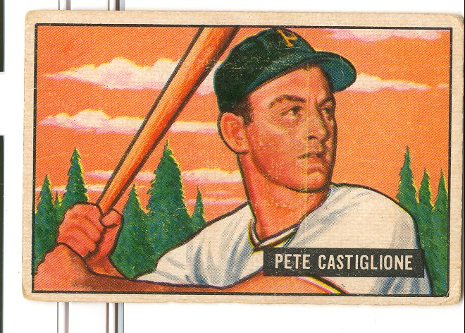 1951 Bowman #17 Pete Castiglione