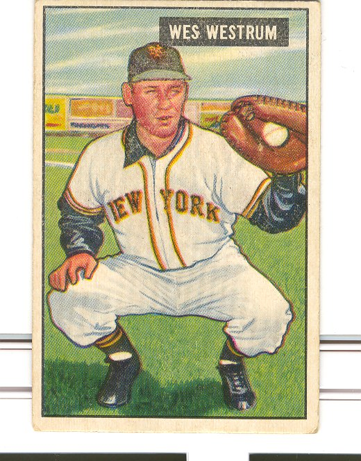 1951 Bowman #161 Wes Westrum RC