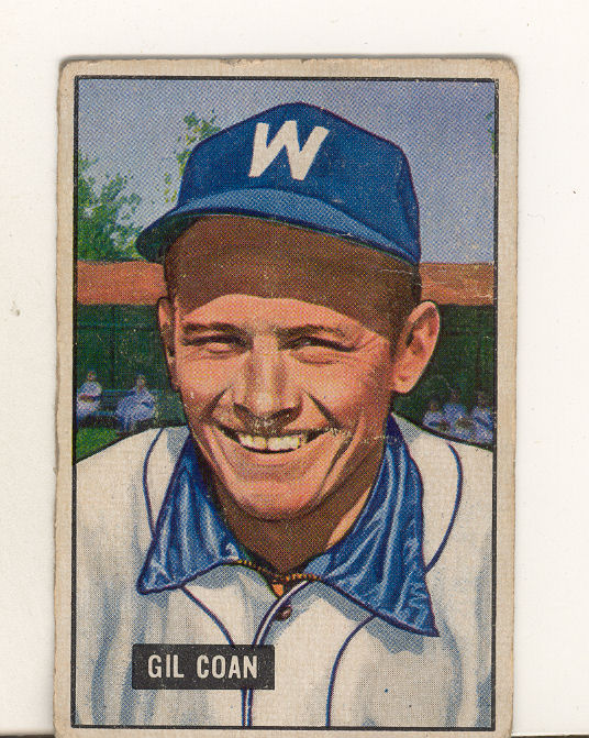 1951 Bowman #18 Gil Coan