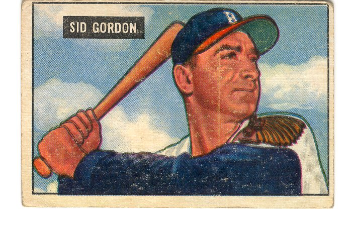 1951 Bowman #19 Sid Gordon