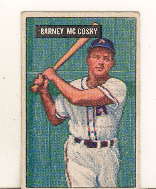 1951 Bowman #84 Barney McCosky