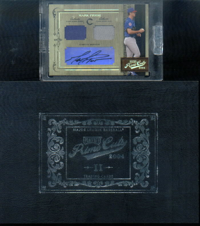 2004 Prime Cuts II Signature Material Combo #1 Mark Prior Hat-Jsy/22