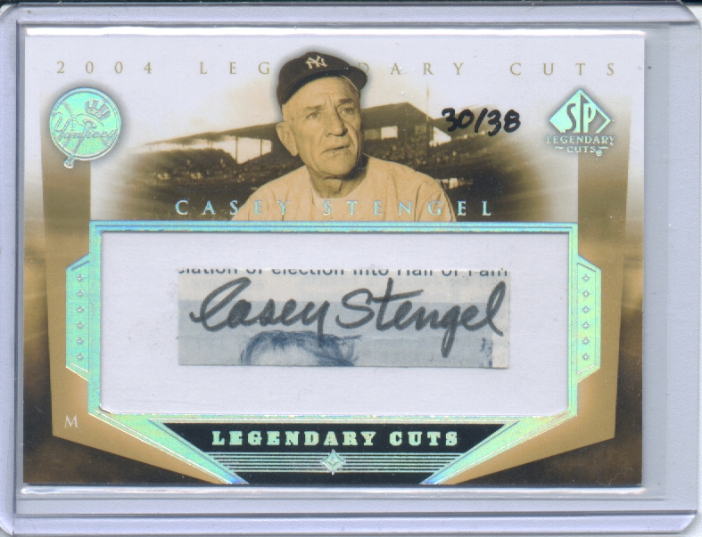 2004 SP Legendary Cuts Autographs #CS Casey Stengel/38 front image