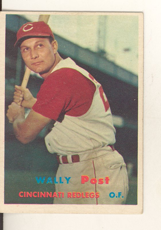1957 Topps #157 Wally Post front image