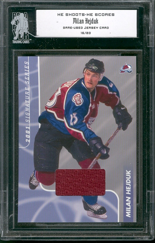 2000-01 BAP Signature Series He Shoots He Scores Prizes #2 Milan Hejduk