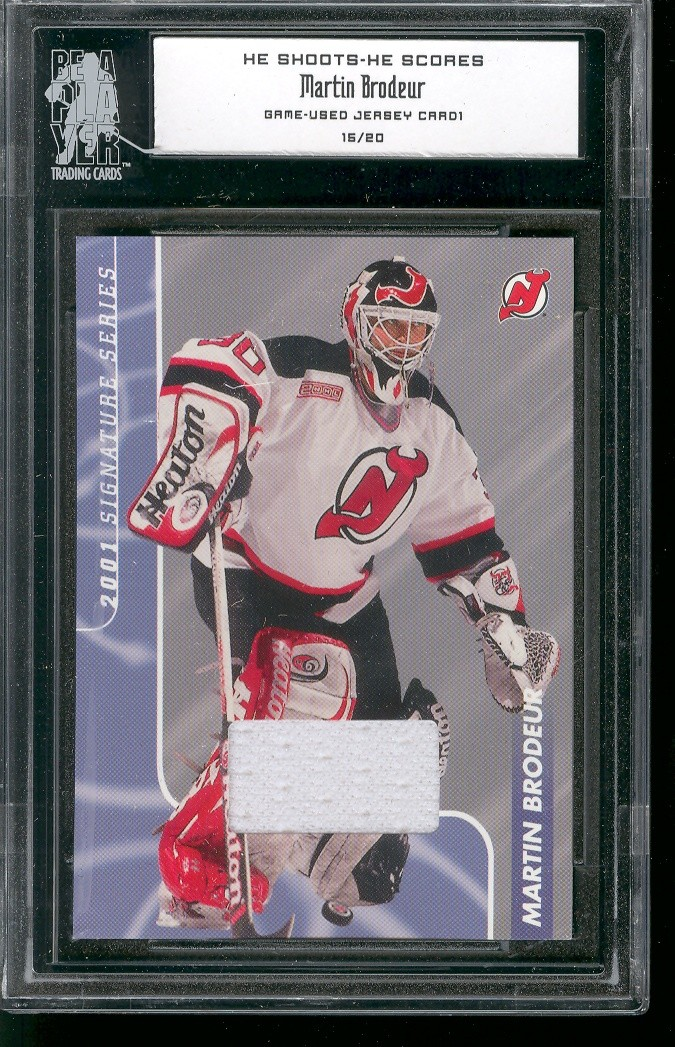 2000-01 BAP Signature Series He Shoots He Scores Prizes #7 Martin Brodeur
