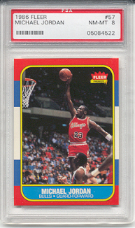 1986 Fleer Michael Jordan Rookie (PSA 8)