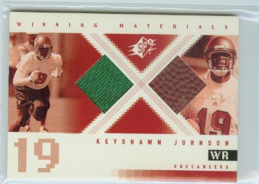 2000 SPx Winning Materials #WMKJ Keyshawn Johnson