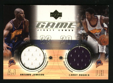 2001-02 Upper Deck Game Jerseys Combos #AJLH Antawn Jamison/Larry Hughes
