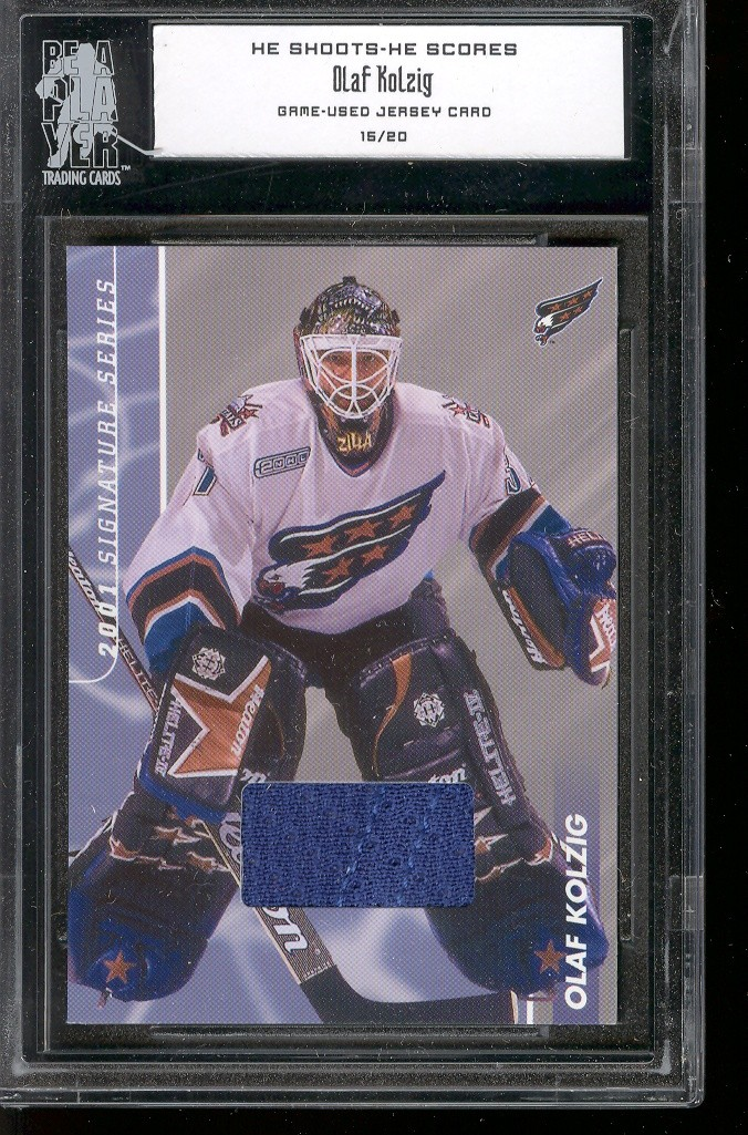 2000-01 BAP Signature Series He Shoots He Scores Prizes #14 Olaf Kolzig