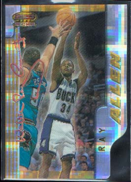 1996-97 Bowman's Best Picks Atomic Refractors #BP5 Ray Allen