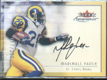 2000 Fleer Tradition Autographics Silver #46 Marshall Faulk