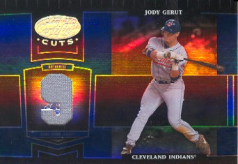 2004 Leaf Certified Cuts Marble Material Blue Number #65 Jody Gerut Jsy/9