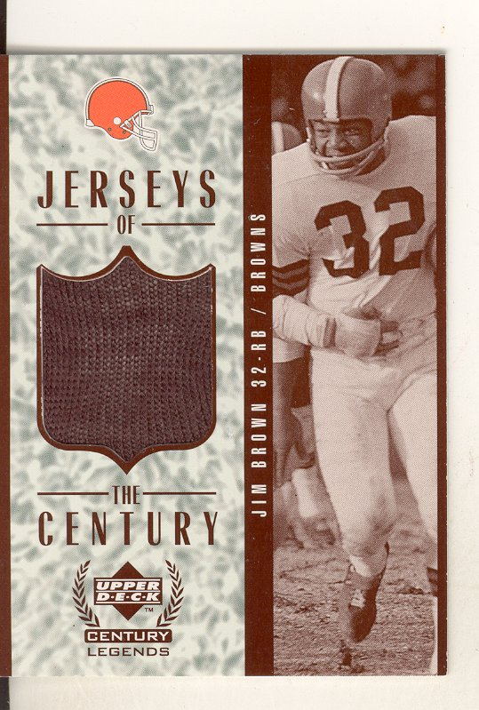 1999 Upper Deck Century Legends Jerseys of the Century #GJ10 Jim Brown