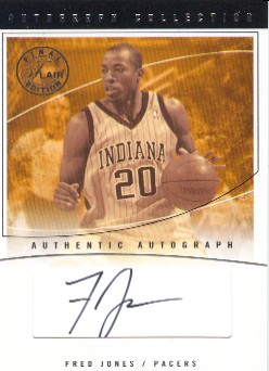 2003-04 Flair Final Edition Autograph Collection 10 #FJ Fred Jones