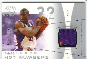 2003-04 Flair Final Edition Hot Numbers Patches #AS Amare Stoudemire