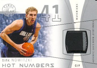 2003-04 Flair Final Edition Hot Numbers Patches #DN Dirk Nowitzki