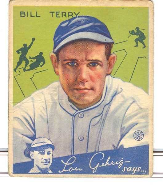 1934 Goudey #21 Bill Terry