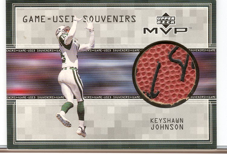 1999 Upper Deck MVP Game Used Souvenirs #KJS Keyshawn Johnson