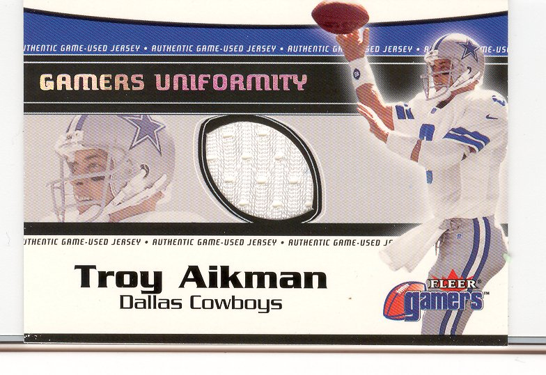 2000 Fleer Gamers Uniformity #1 Troy Aikman