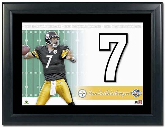 Ben Roethlisberger QB Pittsburgh Steelers Framed Unsigned Numbers Piece