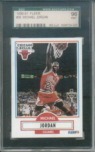 1990-91 Fleer Michael Jordan #26 Graded SGC 96 Mint 9
