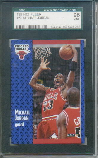 1991-92 Fleer Michael Jordan #29 Graded SGC 96 Mint 9