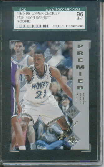 1995-96 Upper Deck SP #159 Kevin Garnett RC Graded SGC 96 Mint 9