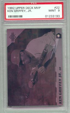 1992 Upper Deck MVP #22 Ken Griffey Jr Hologram PSA Mint 9 BEAUTIFUL!!