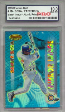 1999 Bowman's Best Baseball #M4 Sammy Sosa/Corey Patterson Mirror Image Atomic Refractor GEM MINT 10