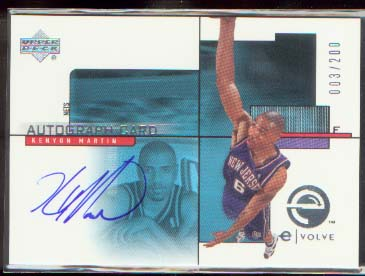 2000-01 Upper Deck e-Card 2 #EC3S Kenyon Martin AU/200