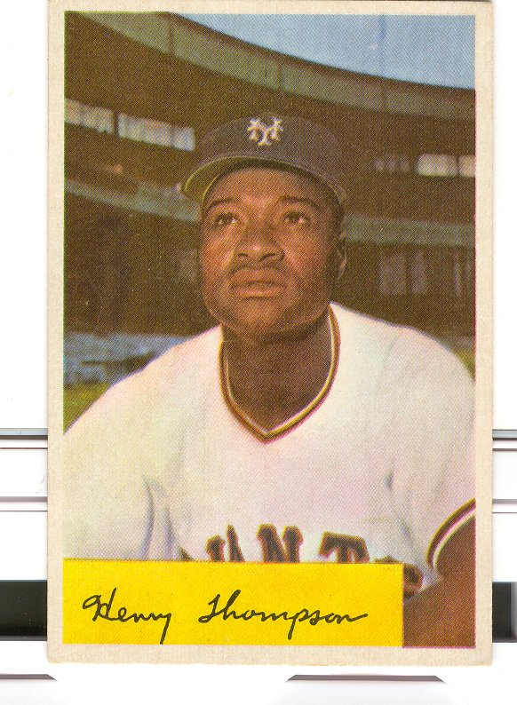 1954 Bowman #217A Henry Thompson .956/.951 Fielding Avg.