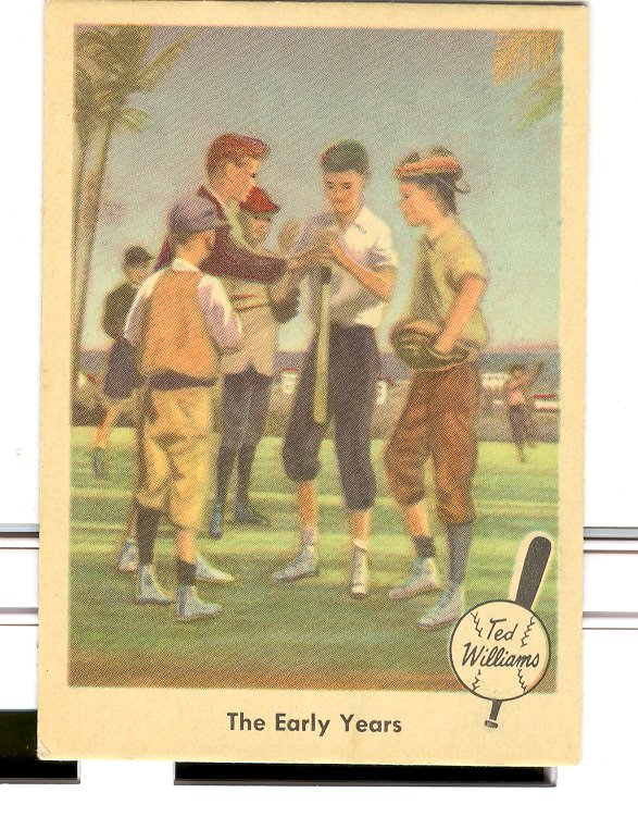 1959 Fleer Ted Williams #1 The Early Years