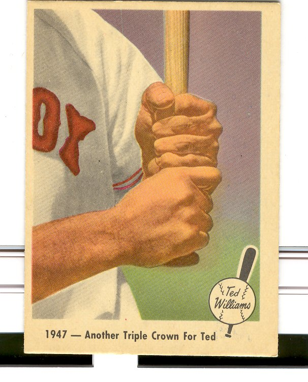 1959 Fleer Ted Williams #33 Another Triple Crown
