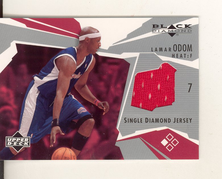 2003-04 Black Diamond Jerseys #BDLO Lamar Odom