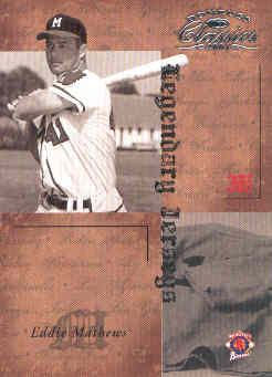 2004 Donruss Classics Legendary Jerseys #31 Eddie Mathews
