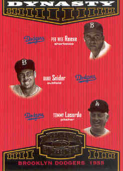 2004 Throwback Threads Dynasty #2 Reese/Snider/Lasorda front image