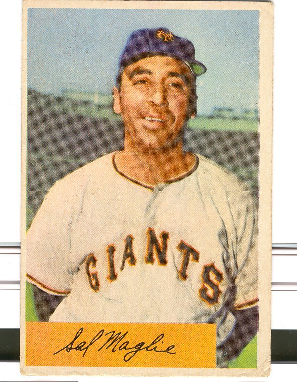 1954 Bowman #105A Sal Maglie Quiz Answer is 8