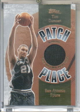 2003-04 Topps Jersey Edition Patch Place #24 Tim Duncan