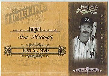 2004 Prime Cuts II Timeline Century Silver #21 Don Mattingly