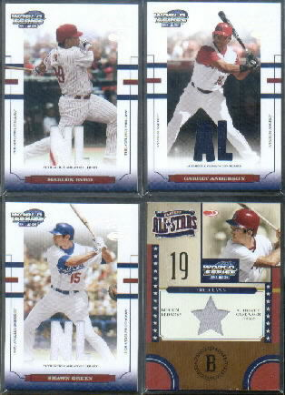 2004 Donruss World Series Playoff All-Stars Material 1 #14 Fred Lynn Jsy/50