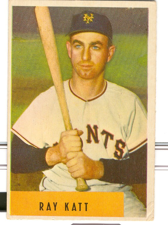 1954 Bowman #121 Ray Katt RC